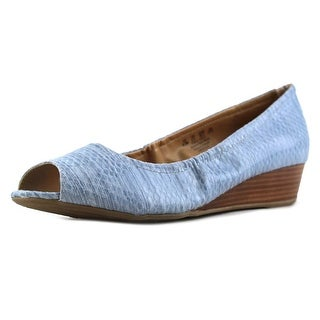 Naturalizer Contrast  W Open Toe Leather  Wedge Sandal