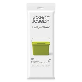 Joseph Joseph Intelligent Waste Compostable Food Waste Caddy Liners (50 Pack), 1 gallon, Clear