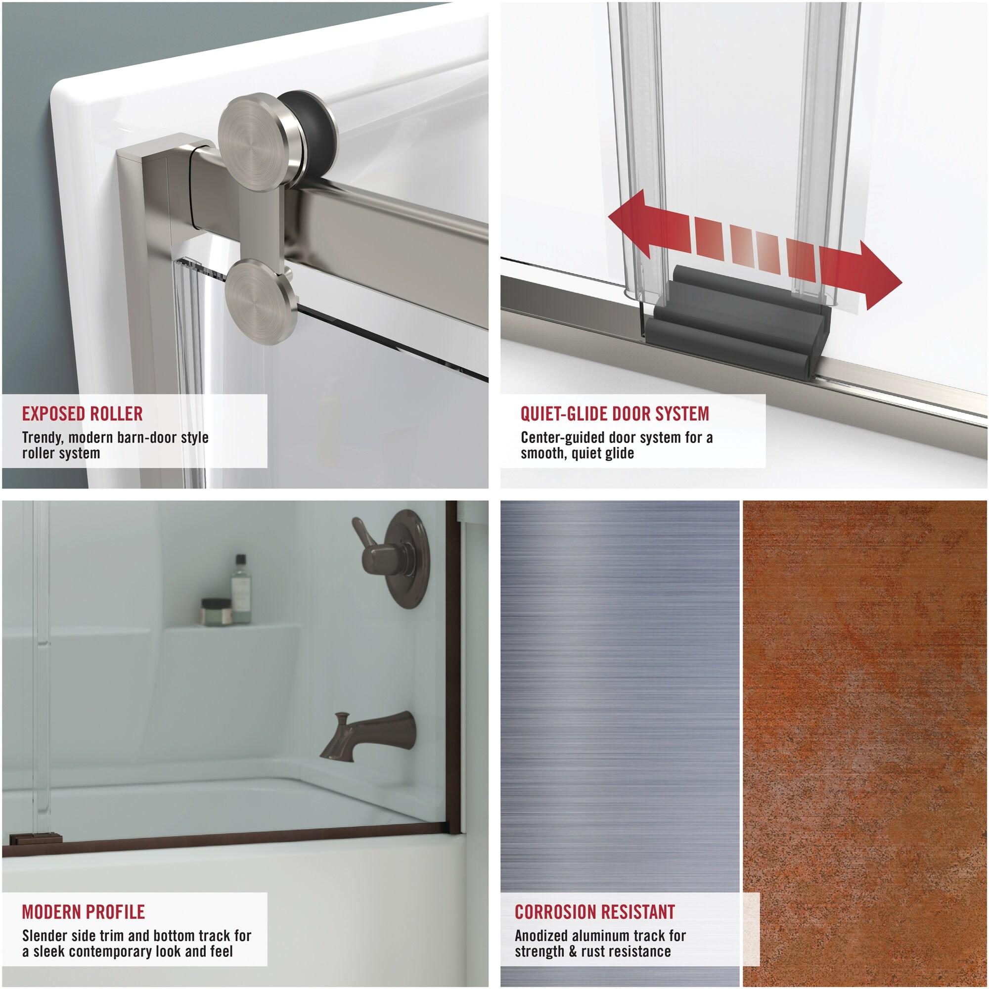 Chrome Niebla Glass 60 X 58 3 4 Delta Shower Doors Sd3927432 Classic Semi Frameless Contemporary Sliding Bathtub Tools Home Improvement Shower Doors