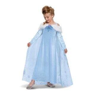 Girls Elsa Frozen Adventure Deluxe Halloween Costume