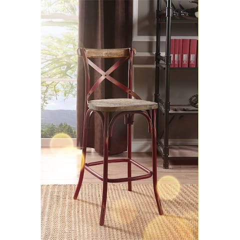 ACME Zaire Bar Chair (1Pc) in Antique