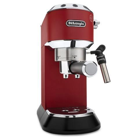 DeLonghi Dedica Deluxe 15-Bar Manual Espresso Machine (Red)