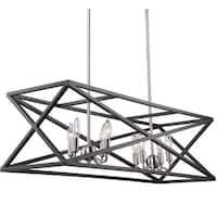 "Artcraft Lighting AC11045 Elements 8-Light 38"" Wide Candle Linear Chandelier"