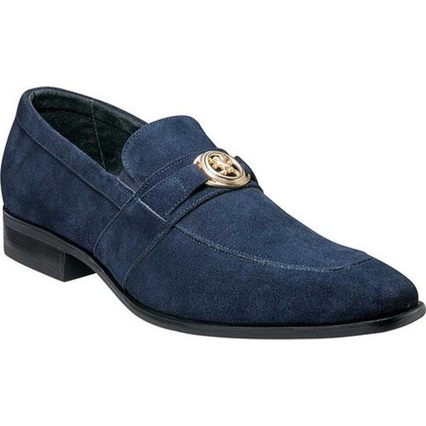 b89cc766c47 Shop Stacy Adams Men s Mandell Loafer 25107 Navy Suede - Free ...