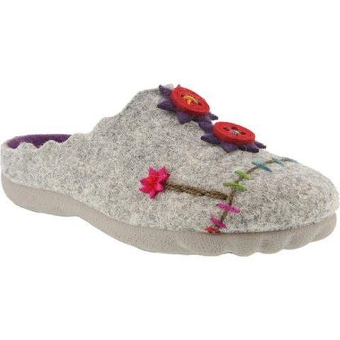 Flexus by Spring Step Women's Piketfens Slipper Gray Wool