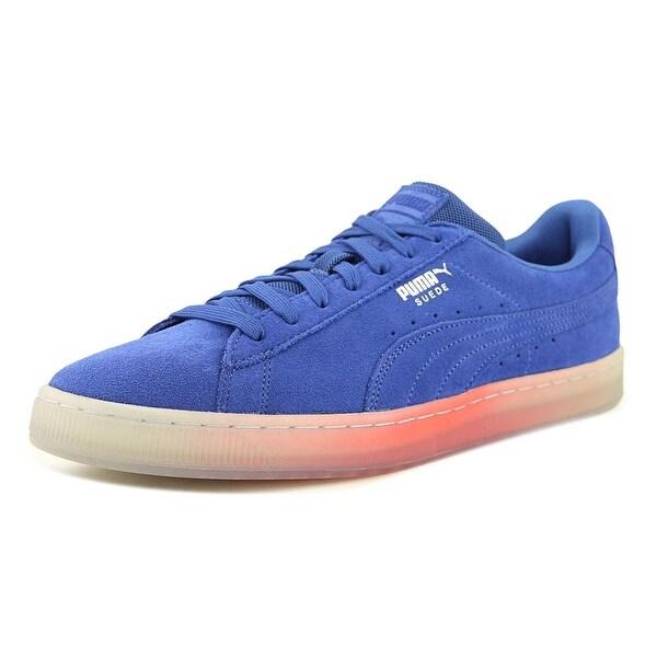 Puma Suede Classic Explosive Men Round Toe Suede Blue Sneakers