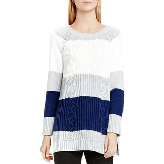 Two by Vince Camuto Womens Pullover Sweater Colorblocked Long Sleeve