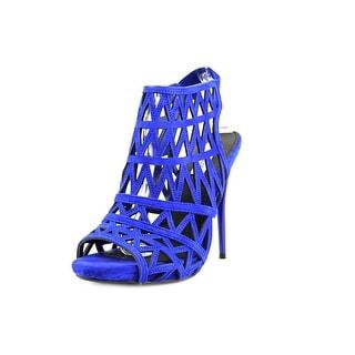 Steve Madden Bratt Peep-Toe Suede Slingback Heel