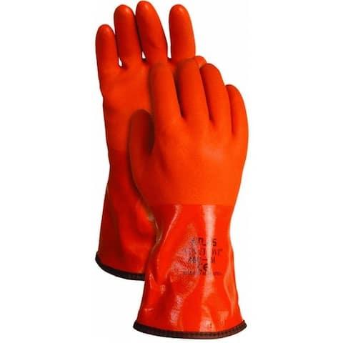 Atlas Glove 460XL-10.RT Insulated PVC Snow Blower Gloves, X-Large, Orange