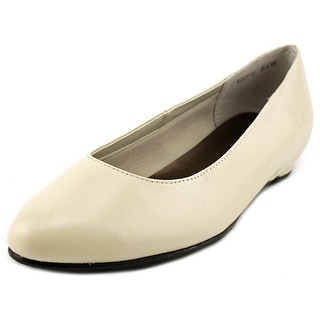 Rose Petals by Walking Cradles Butter 2 Women  Round Toe Leather Ivory Flats