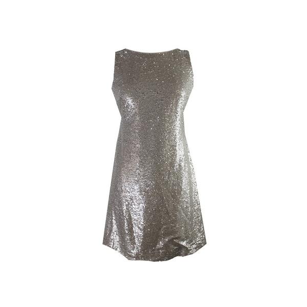 133474a732d25 Shop Tommy Hilfiger Champagne Metallic Heather Sequin Sheath Dress ...