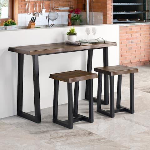 Carbon Loft Joliet Live Edge 3-Piece Counter Height Dining Set