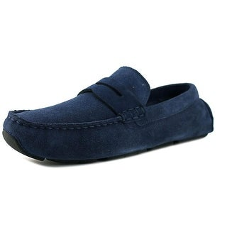 Cole Haan Kelson Penny Men  Round Toe Suede Blue Loafer