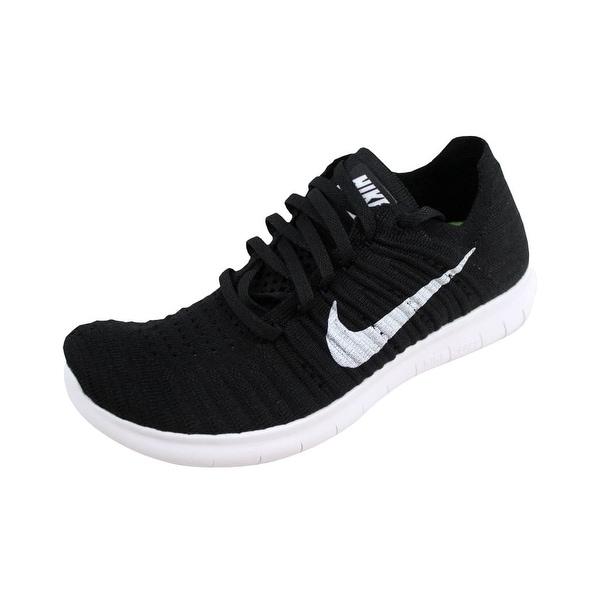 edfddc2e4920 Shop Nike Men s Free Run Flyknit Black White 831069-001 - Free ...