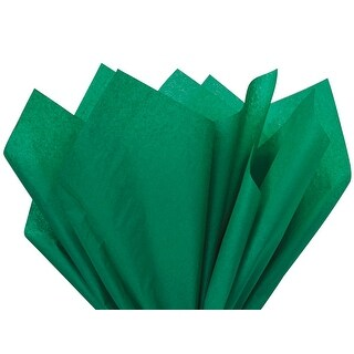 "Pack Of 480, Solid Emerald Tissue Paper 15 X 20"" Sheet Half Ream Made From 100% Post Industrial Recycled Fibers Made In Usa"