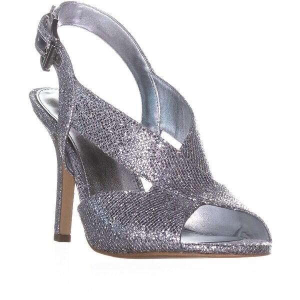 MICHAEL Michael Kors Becky Cross Strap Dress Sandals, Silver/Silver
