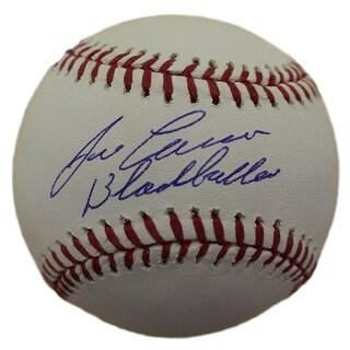 Jose Canseco Autographed Oakland Athletics OML Baseball Black Balled JSA