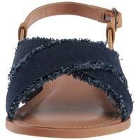 Nautica Womens basin Fabric Pointed Toe Casual Gladiator Sandals