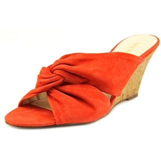 Nine West Kessie Open Toe Suede Wedge Heel