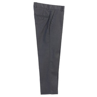 Boys Charcoal Flat Front Formal Special Occasion Dress Pants 8-18