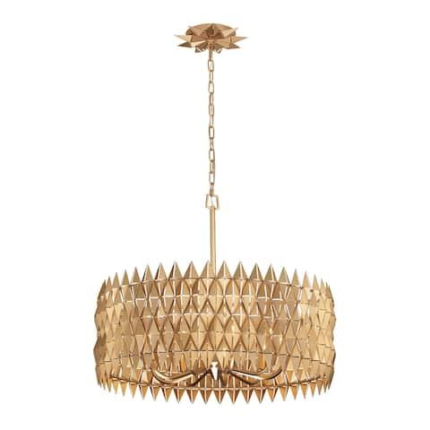 Varaluz Forever 9-light French Gold Pendant