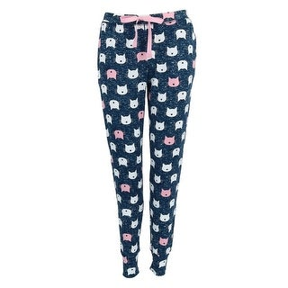 PJ Couture Women's Banded Bottom Pattern Pajama Pants