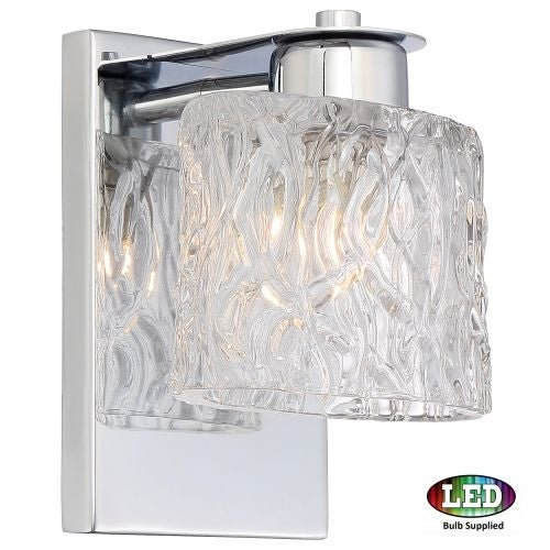 "Platinum PCSW8601LED Seaview 1 Light 6"" Wide Bathroom Wall Sconce with Glass Bell Shade"
