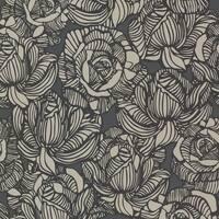 Brewster 450-67346 Calista Black Modern Rose Wallpaper