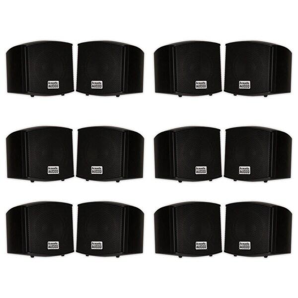 Acoustic Audio AA321B Indoor Mount Black Speakers 2400W 6 Pair Pack AA321B-6Pr