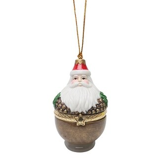 Christmas Tree Ornament Box - Acorn Santa