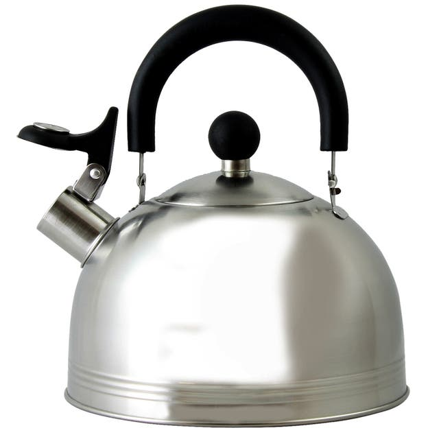 Mr. Coffee Carterton 1.5 Qt Stainless Steel Whistling Tea Kettle - Silver