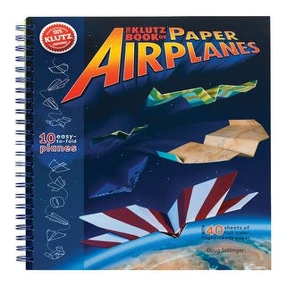KLUTZ Book of Paper Airplanes Craft Kit - multi|https://ak1.ostkcdn.com/images/products/is/images/direct/77859ed1b016c50f328b31abbebed18debd95a66/Children%27s-Klutz-Book-Of-Paper-Airplanes-Craft-Kit.jpg?impolicy=medium