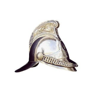 Old Modern Handicrafts ND038 Fireman Helmet - one size - silver finish