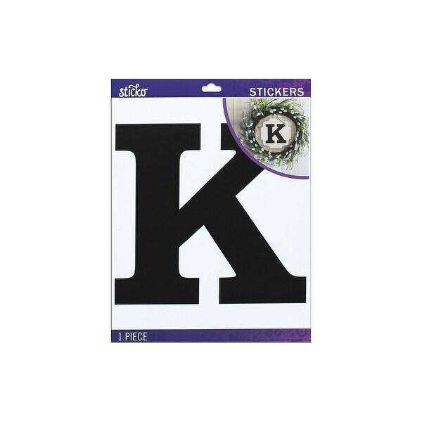 Shop 52 90444 Ek Sticko Sticker Jumbo Basic Black Monogram K Free Shipping On Orders Over 45 Overstock 29497019