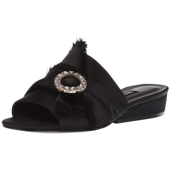 Nine West Women's Lafay Satin Slide Sandal