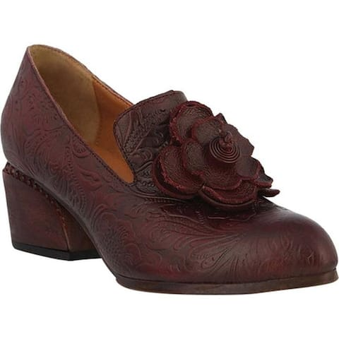 L'Artiste by Spring Step Women's Noora Heeled Loafer Bordeaux Leather