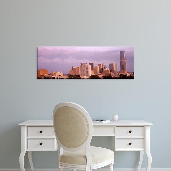 Easy Art Prints Panoramic Images's 'Downtown skyline, Oklahoma City, Oklahoma, USA' Premium Canvas Art