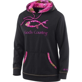 Legendary Whitetails Ladies God's Squad Pink Camo Performance Hoodie