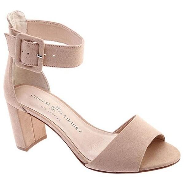 0ae8df736675 Chinese Laundry Women  x27 s Rumor Ankle Strap Sandal Dark Nude Microsuede