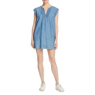 Soft Joie Womens Blayne Casual Dress Pleated Cap Sleeves
