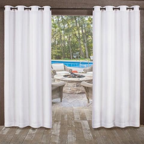 ATI Home Miami Indoor/Outdoor Grommet Top Curtain Panel Pair