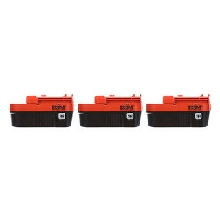 Battery for Black & Decker HPB18OPE (3-Pack) Replacement Battery