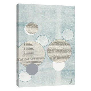 """PTM Images 9-105231  PTM Canvas Collection 10"""" x 8"""" - """"Light Blue Word Bubble"""" Giclee Abstract Art Print on Canvas"""