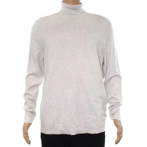 Alfani Indigo Blue Mens Medium Turtleneck Knit Sweater