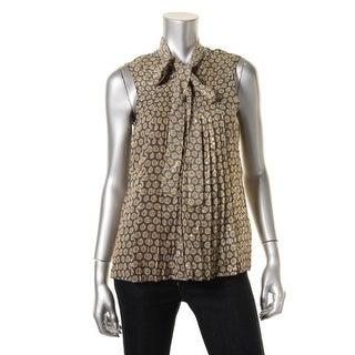 Marc Jacobs Womens Silk Pattern Blouse - 6