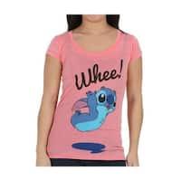 Lilo & Stitch Whee Stitch Juniors T-Shirt
