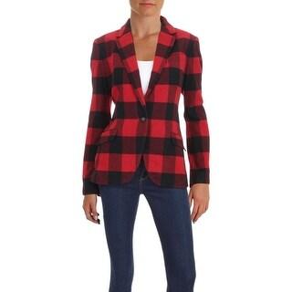 Lauren Ralph Lauren Womens Buffalo Blazer Buffalo Check Wool