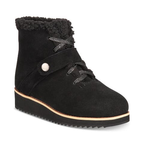 Style & Co. Womens Elissaa Leather Closed Toe Ankle Cold Weather Boots