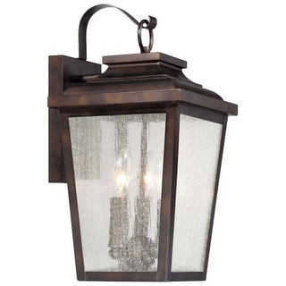 The Great Outdoors 72172-189 3 Light Outdoor Wall Sconce from the Irvington Manor Collection