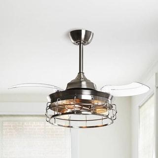 Link to Industrial 36-in Satin Nickel 3-Blade Ceiling Fan Similar Items in Ceiling Fans